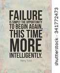 failure is simply the... | Shutterstock . vector #341772473