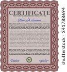 certificate. diploma of...   Shutterstock .eps vector #341788694