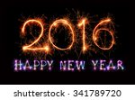 happy new year 2016 from... | Shutterstock . vector #341789720