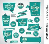 vintage labels set   origami... | Shutterstock .eps vector #341790263