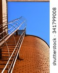 industrial ladder  blue sky and