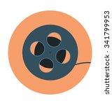 camera reel colored vector icon  | Shutterstock .eps vector #341799953