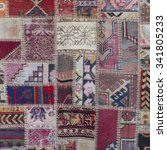 Asian Patchwork Carpet In...