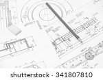 measuring and drawing... | Shutterstock . vector #341807810