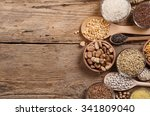 cereal grains   seeds  beans on ... | Shutterstock . vector #341809040