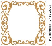 premium gold vintage baroque...   Shutterstock .eps vector #341813924