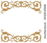 premium gold vintage baroque...   Shutterstock .eps vector #341814068