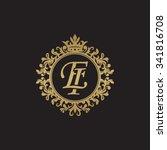 ei initial luxury ornament... | Shutterstock .eps vector #341816708