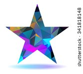 abstract lovely colored star... | Shutterstock .eps vector #341818148