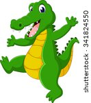 cute crocodile cartoon  | Shutterstock .eps vector #341824550