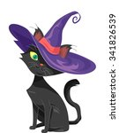 halloween illustration of a... | Shutterstock .eps vector #341826539