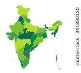 map of india   Shutterstock .eps vector #341830130
