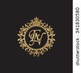 en initial luxury ornament...   Shutterstock .eps vector #341830580