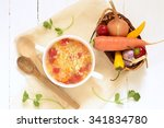 soup with millet and vegetables ... | Shutterstock . vector #341834780