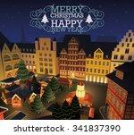 christmas market | Shutterstock .eps vector #341837390