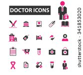 doctor  clinic  icons  signs... | Shutterstock .eps vector #341853020