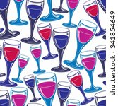 sophisticated wine goblets... | Shutterstock .eps vector #341854649