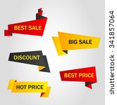 vector stickers  price tag ... | Shutterstock .eps vector #341857064