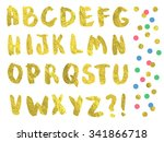 Vector Gold Font. Hand Drawn...