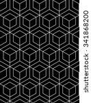 continuous black pattern ... | Shutterstock .eps vector #341868200