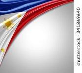Philippines Flag   Of  Silk...
