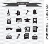 web icons set illustration | Shutterstock .eps vector #341881430