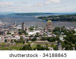 View Of Old City Of Quebec Wit...