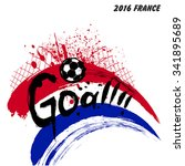 euro 2016 france football... | Shutterstock .eps vector #341895689