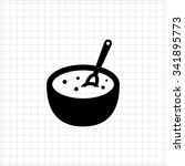 vector icon of bowl with... | Shutterstock .eps vector #341895773