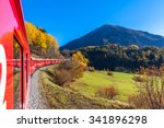 Travel With Train Of Rhaetian...