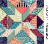 seamless pattern. patchwork. | Shutterstock .eps vector #341901914