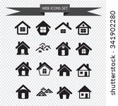house icon real estate set for... | Shutterstock .eps vector #341902280