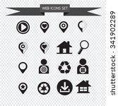 web icons set illustration | Shutterstock .eps vector #341902289