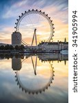 Постер, плакат: The London Eye on