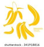 Yellow Bananas. Logo. Tropical...