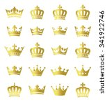 golden crowns   set of vector... | Shutterstock .eps vector #341922746