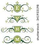 decorative vector emblem or... | Shutterstock .eps vector #341933198