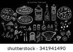 italian kitchen food set | Shutterstock .eps vector #341941490