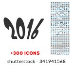 2016 year vector pictogram with ... | Shutterstock .eps vector #341941568