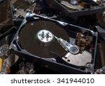computer hard drives being... | Shutterstock . vector #341944010