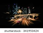 moving through modern city... | Shutterstock . vector #341953424