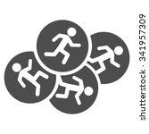 running men vector icon. style... | Shutterstock .eps vector #341957309