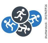 running men vector icon. style... | Shutterstock .eps vector #341965916