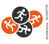 running men vector icon. style... | Shutterstock .eps vector #341969759