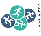 running men vector icon. style... | Shutterstock .eps vector #341971313