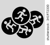 running men vector icon. style... | Shutterstock .eps vector #341972330