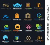 home and real estate logo set ... | Shutterstock .eps vector #341976674