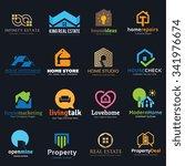 logo set logo collection home... | Shutterstock .eps vector #341976674