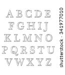 alphabet letters  isolated on... | Shutterstock . vector #341977010