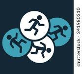 running men vector icon. style... | Shutterstock .eps vector #341980310